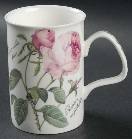 (Roy Kirkham Lancaster Redoute Rose Mug - One Mug Only)