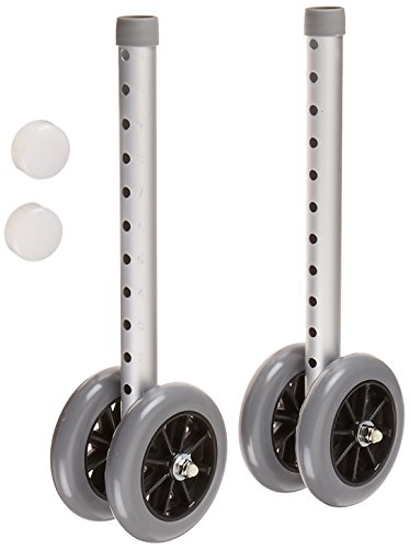 """Days Double 5"""" Wide Wheels and Glide Caps for Bariatric A..."""