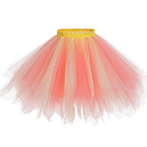 Z J Tulle Danza Ballo Vestito Tutù Colore Ballerina Gonna Della Abito Donne Mini Classica Tutu Multicolore Skirt Caramella Sx4EZ