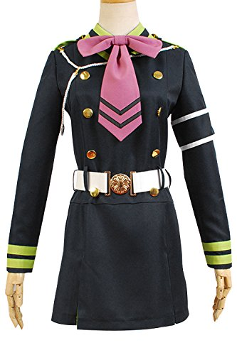Shinoa Hiragi Costume (Ya-cos Halloween Seraph of the End Shinoa Hiragi Uniform Dress Cosplay Costume)