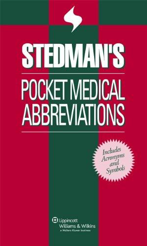 Stedman's Pocket Medical Abbreviations