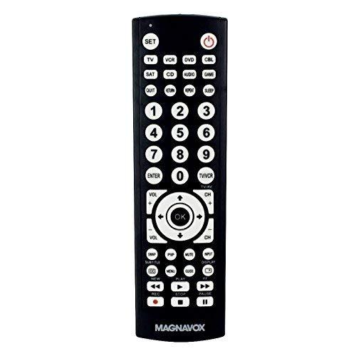Magnavox 8 - in - 1ユニバーサルリモートfor TV (テレビ)、デジタルTV (DTV)、DVDプレーヤーDVD、VCRプレーヤーVCR、セットトップボックス(STB)、Satellite受信機(SAT)、Aux、and Moreモデルmc348 B076HR7PRT