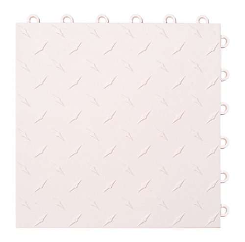 Speedway Garage Tile 789453W-50 Diamond Garage Floor 6 LOCK Diamond Tile 50 Pack, White by Speedway Garage Tile Mfg.