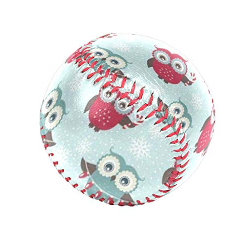 Christmas Cute Owl Personalized Low Impact Safety Tee Balls Indoor Baseball or Outdoor Baseballs for League Play, Practice, Competitions, Gifts, Keepsakes, Arts and Craftsophies, and Autographs ()