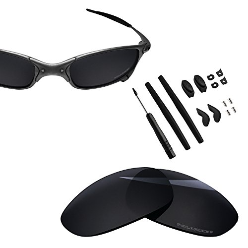 BlazerBuck Anti-salt Polarized Replacement Lenses & Sock Kit for Oakley Juliet - Black