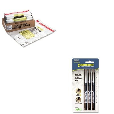 KITMMF200045304MMF2362035N20 - Value Kit - MMF 16 Bundle Capacity Tamper-Evident Cash Bags (MMF2362035N20) and MMF Counterfeit Currency Detector Pen (MMF200045304)