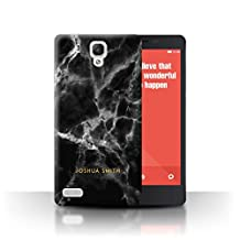Personalized Marble Case for Xiaomi Redmi Note 4G / Midnight Black Stamp Design / Name/Initial Custom DIY Cover