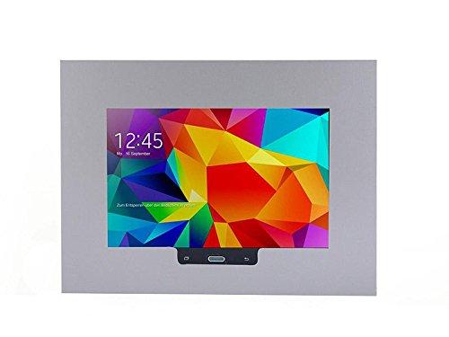 TabLines TWE006E Tablet Wandeinbau für Samsung Galaxy Tablet 4 10.1, Homebutton zugänglich, edelstahl