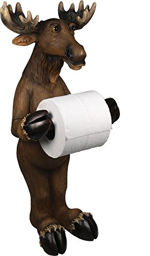 River's Edge Products Paper Toilet Holder, Moose Standing Bathroom Decorative Toilet Paper Holders