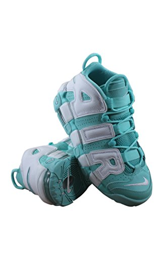 05ee51ac74036 Galleon - NIKE GIRLS AIR MORE UPTEMPO GS ISLAND GREEN WHITE SCOTTIE PIPPEN  415082 300