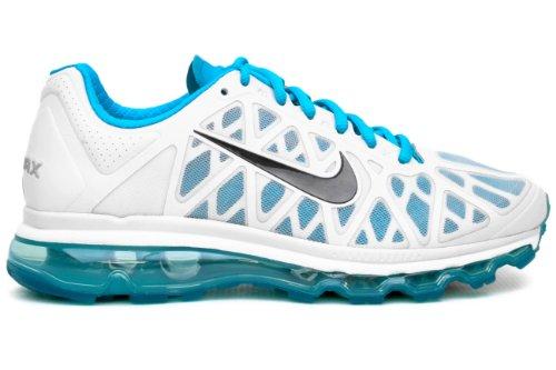 Damesschoenen Dames Nike Air Max + 2011 Puur Platina / Antraciet-chloorblauw