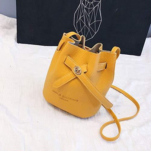 Tote Bag Phone Yellow Crossbody Shoulder Women EUzeo Messenger Bag Bucket Satchel Bag Bag 7Wqw1Rn