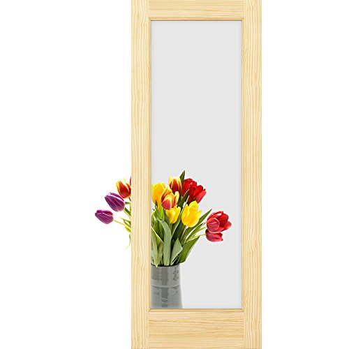 1-Lite Clear Glass French Door, Unfinished, 30