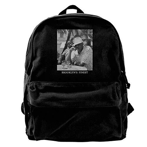 Jay-Z & Biggie- Brooklyn's Finest Canvas Backpack Vintage Laptop School Bag Travel Daypack