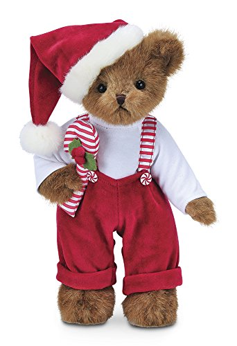 Bearington Christopher Cane Christmas Stuffed Animal Teddy Bear Toy, 14