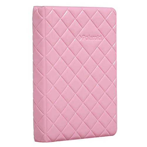 Pink Traditional Album - Polaroid 64-Pocket Photo Album w/Sleek Quilted Cover for 3x4 Photo Paper (POP) - Pink