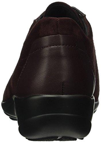 Semler Birgit, Zapatos de Cordones Brogue para Mujer Rojo - Rot (068 Cassis)