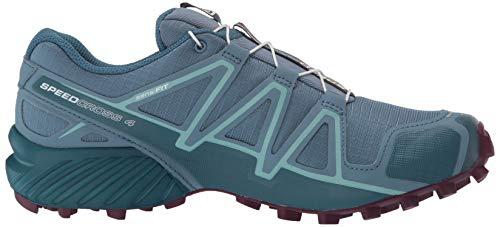 Salomon Women's Speedcross 4 W Trail Running Shoe, Bluestone/Mallard Blue/Dark Purple, 5.5 Standard US Width US by Salomon (Image #7)