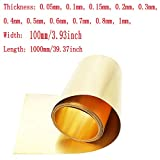 XMRISE Brass Foil Sheet Skin Band Copper Metal