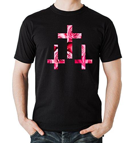 Crosses Roses T-Shirt Black Certified Freak-L