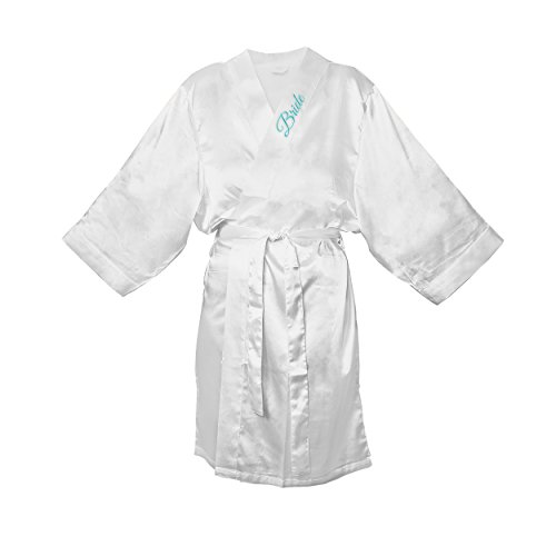 Cathy's Concepts Personalized Satin Bride Robe, Large/X-L...