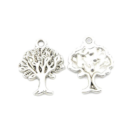 Beadthoven 20pcs Tibetan Style Pendants, Tree of Life, DIY Charms for Necklace Making, Lead Free & Cadmium Free, Antique Silver