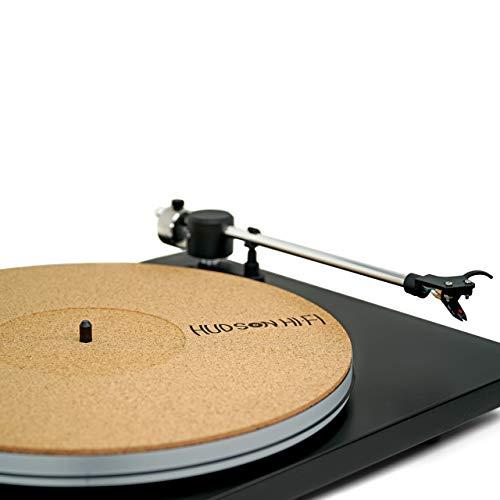 "CoRkErY Recessed Turntable Platter Mat - Audiophile Anti-Static Slipmat - 1/8"" Recessed"