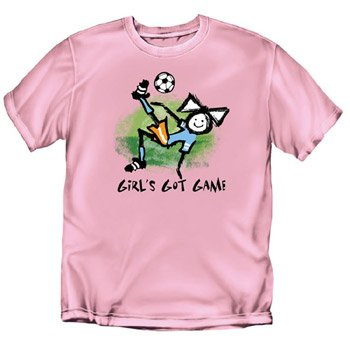 Girls Got Game Soccer - Youth Pink T-Shirt - Youth-M Coed Sportswear Football