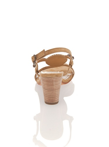 Apepazza Yvette Damen Sandalette Schuhe Vollleder Pumps Steinverzierungen Sand Sand