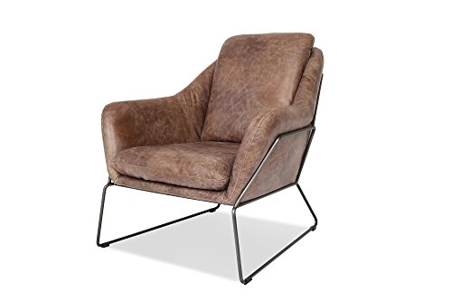 Edloe Finch EF-Z4-LC002 Kali Modern Leather Accent Chair, Cognac Lounge Chair - EXCEPTIONAL QUALITY: The Kali Modern Accent Chair is a handcrafted masterpiece. Hoisting a solid steel frame and upholstered in 100% GENUINE BRAZILIAN TOP GRAIN LEATHER the Kali is built with top notch craftsmanship. Don't waste your time and money with cheap chairs. This modern leather accent chair is a high quality, designer piece that will be treasured in your home for years to come. NO ASSEMBLY REQUIRED: Kali is one solid piece. Take it out of the packaging and melt into the soft leather instantly. This is a quality designer piece that's built to last a lifetime. SIMPLE, MINIMALIST DESIGN: Chic Sophistication! The sleek, simple design of the Kali leather chair can accent the living room of many design aesthetics from boho chic, industrial to mid-century modern. This chair embodies a versatile beauty and can be a sharp pop of luxury in your bedroom as well. - living-room-furniture, living-room, accent-chairs - 41UwI3Xne8L -