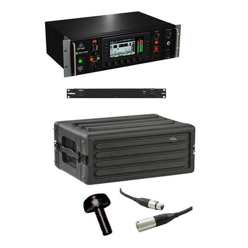 Behringer X32 Rack 40-Input 25-Bus Digital Rack Mixer - Bundle with SKB 4U Roto Shallow Rack Case, Furman M-8X2 Power Conditioner, Gator 10/32x3/4in Rack Screw 25-Pack, 20' XLR M to F Lo-z Mic Cable ()