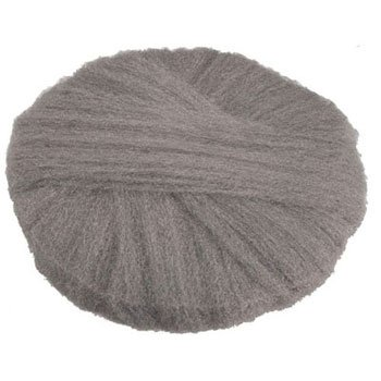 GMT120190 - Radial Steel Wool Pads, Grade 0 fine: Cleaning amp; Polishing, 19 In Dia, Gray