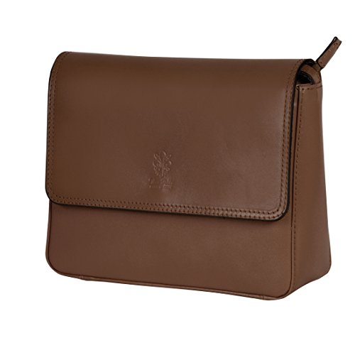Damenhandtasche LAURA braun aus Rindleder - (8611 FB. CIOCCOLATO)