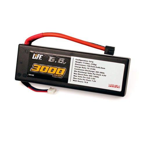 Venom 30C 2S 3000mAh 6.6 LiFe Battery Hard Case with Universal Plug System ()