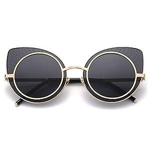 TIJN Retro Cat Ear Sunglasses for Women 48mm
