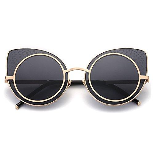 TIJN Retro Cat Ear Sunglasses for Women - Glasses Cat Ear