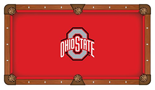 NCAA 8ft Pool Table Cloth by Holland Bar Stool - Ohio State
