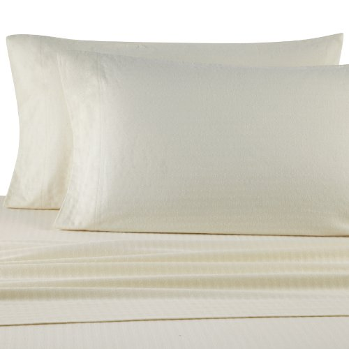 Casual Living Bedding (Casual Living Heavyweight Damask Stripe Flannel Sheet Set, Full,)