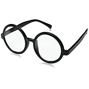 zeroUV - Vintage Inspired Eyewear Round Circle Clear Lens Glasses Eyeglasses (Black)