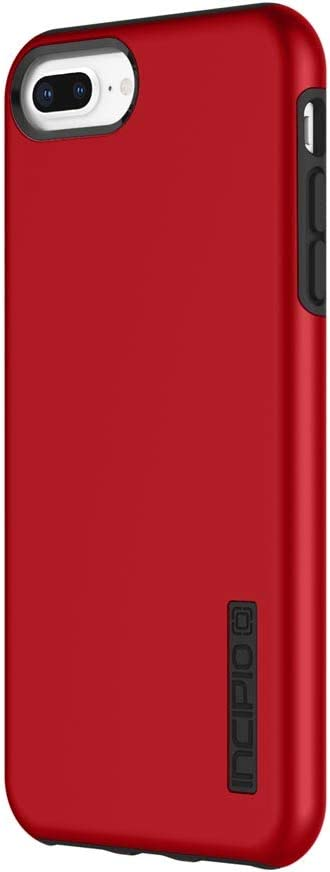 iPhone 8 Plus Case, iPhone 7 Plus Case, Incipio Premium DualPro Shockproof Hard Shell Hybrid Rugged Dual Layer Protective Outer Shell Shock and Impact Absorption Cover (5.5 Inch) - Iridescent Red