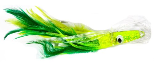 Boone Tuna Treat 6/0 Rigged Lure, Green/Yellow, 6-Inch