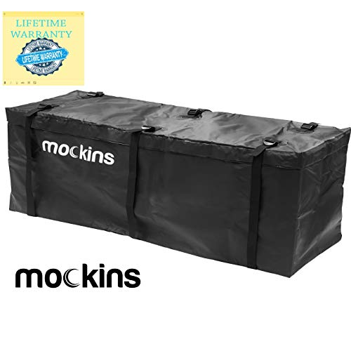 Mockins Waterproof Cargo Carrier Bag | The Hitch Rack Cargo Bag is Made from Heavy Duty Abrasion Resistant Vinyl with 15.5 Cu.ft.Capacity at 57