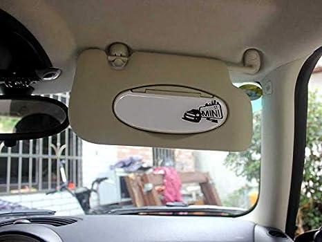 BJJS Piezas de Casco de Visera Parasol del Espejo cosm/ético Cubierta de Pegatinas Recorte Las Etiquetas del Coche Auto Styling para la Serie Mini Cooper r r55 r56 2