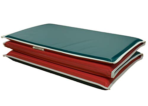 KinderMat Red/Green Limited Edition 3/4 Inch Mat with Pillow Section and White Binding (Bindings Ltd)