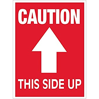 amazon com caution this side up arrow labels stickers 3 x 4