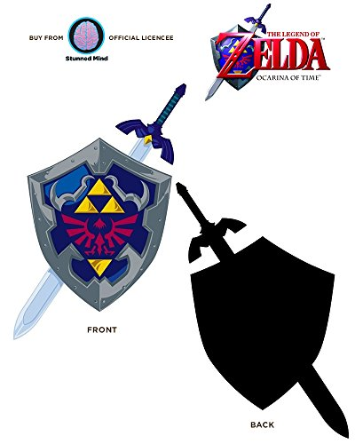 Just Funky Nintendo Official Legend Of Zelda Champion Of Hyrule Hylian Shield Premium Auto Decal Car Sticker