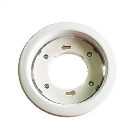 portafaretto redondo de integrado para casquillo GX53 V-TAC vt-715 blanco: Amazon.es: Iluminación