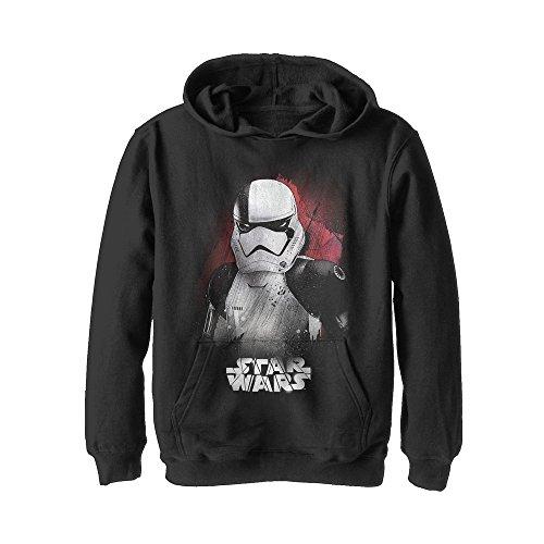 Fifth Sun Star Wars The Last Jedi Boys' New Stormtrooper Profile Black (Trooper Sweatshirt)