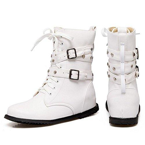 White 1 Up Lace KemeKiss Women Boots 0Oq8ICY