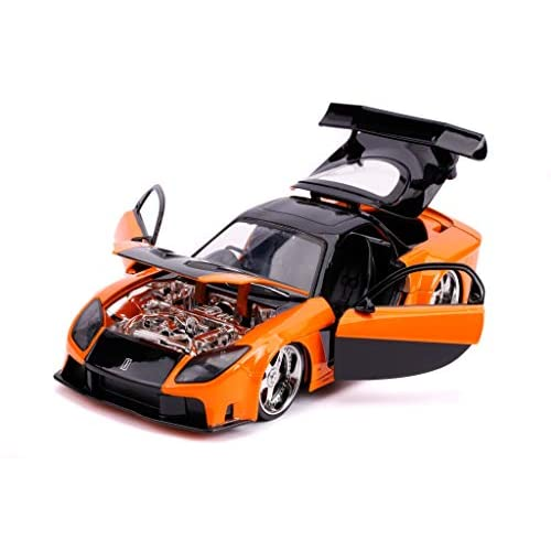 Han's Mazda RX-7 Orange and Black Fast & Furious...